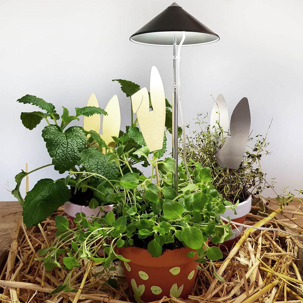 Sunlite Pflanzenlampe, 7 W, 28-100 cm, Ø 11, Kabel 4 m,Aluminium, grau | #3