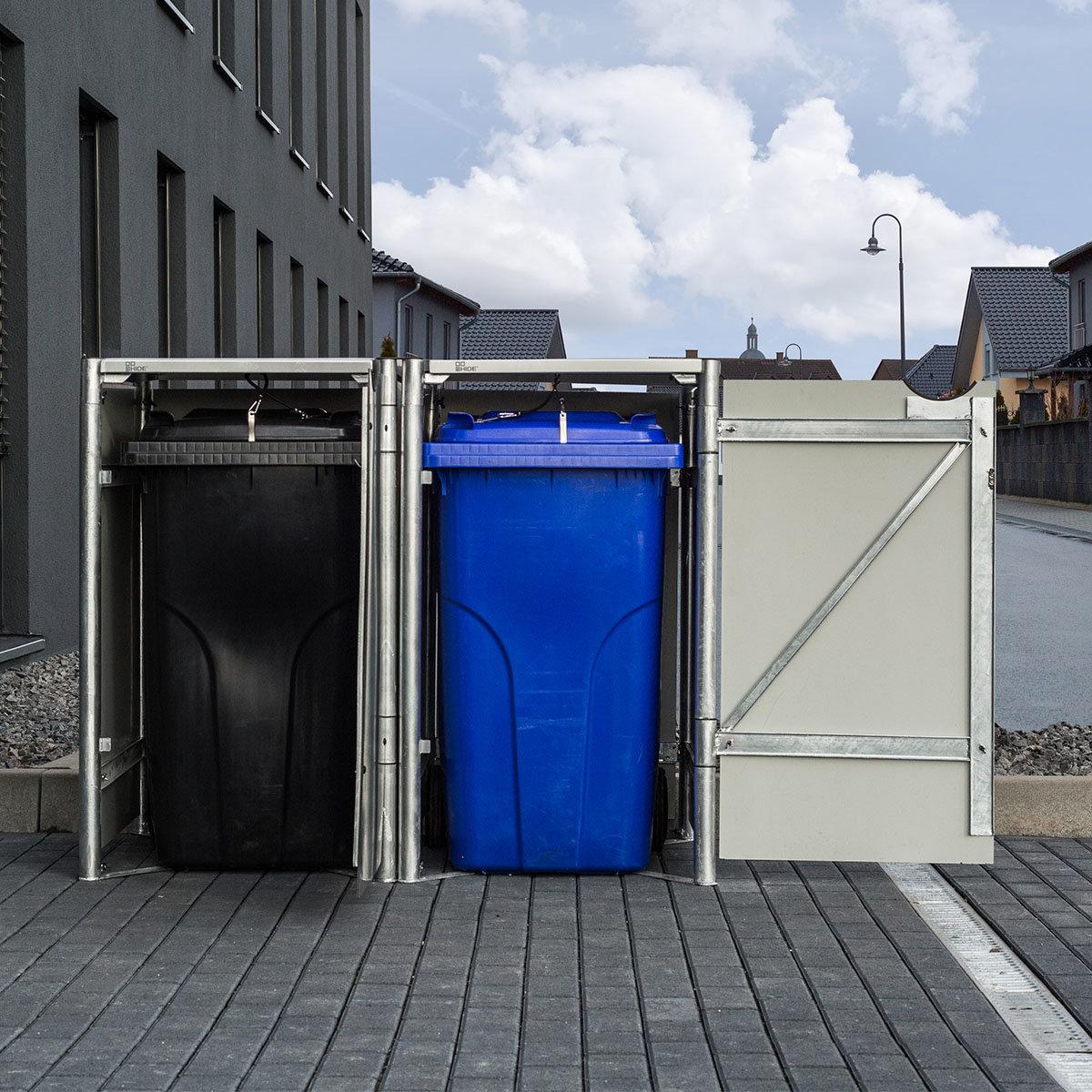 Mülltonnenbox 140l Kunststoff, 2er Box, schwarz | #3