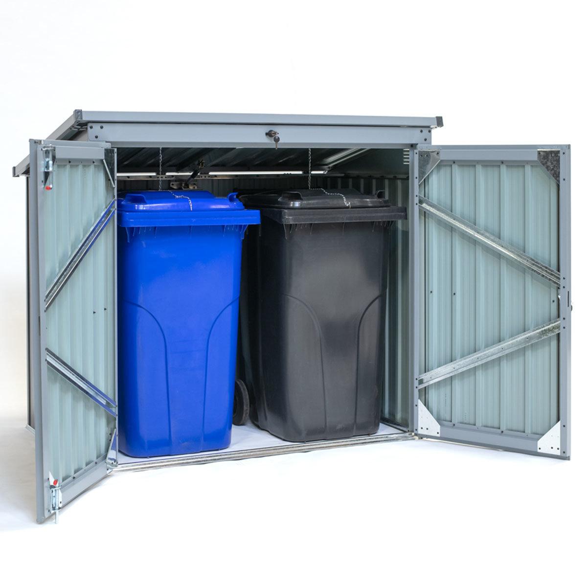 Mülltonnenbox 240l Stahlblech, 2er Box | #3