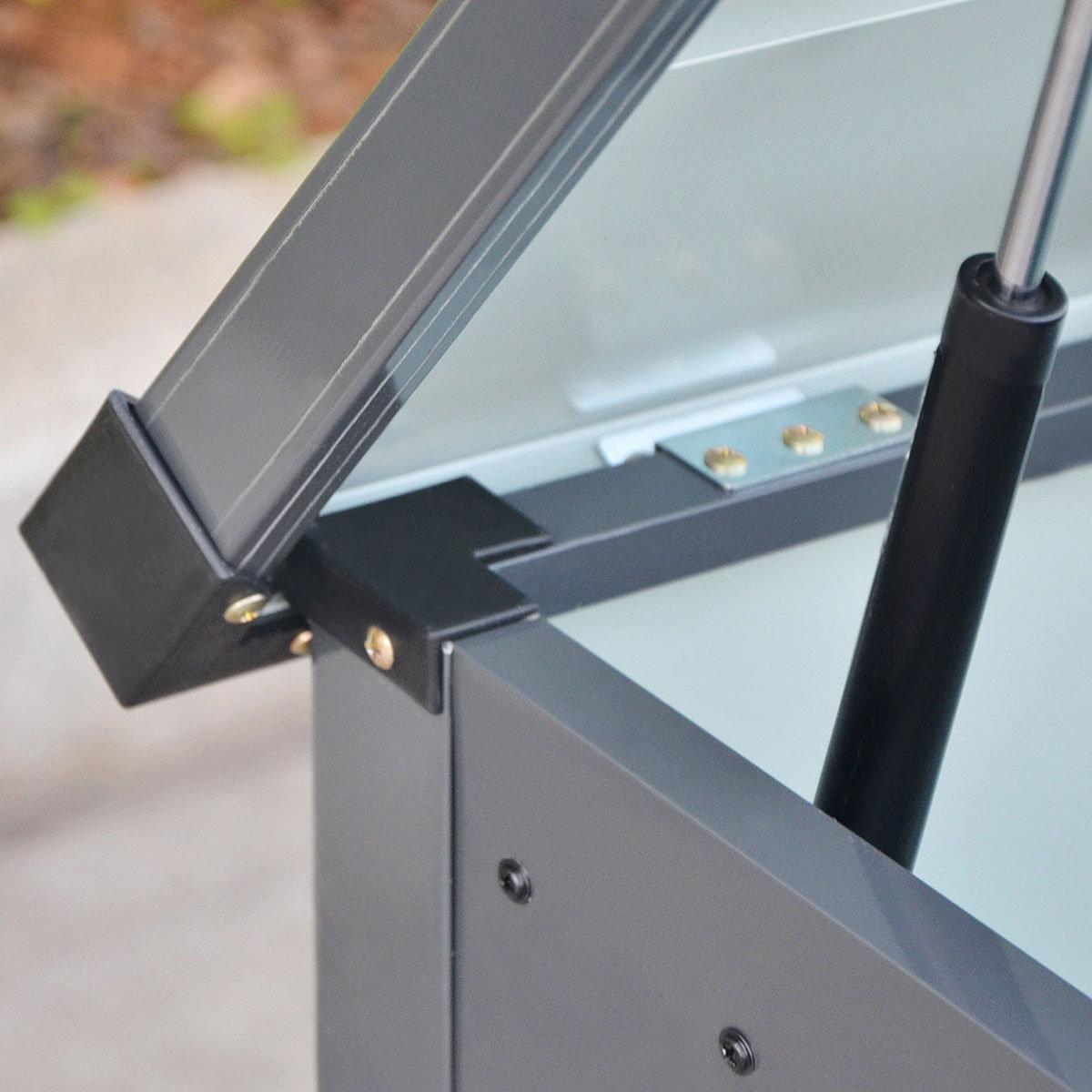 Auflagenbox Mega, mit Bodenplatte, verschließbar, 400 Liter Volumen | #3