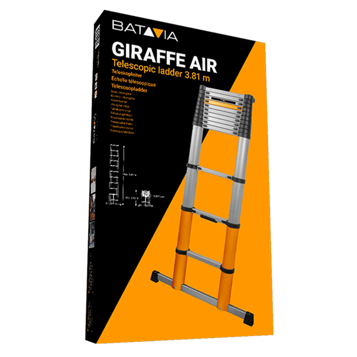 Teleskopleiter Giraffe Air 3,81 m mit Stand- & Quertraverse | #3