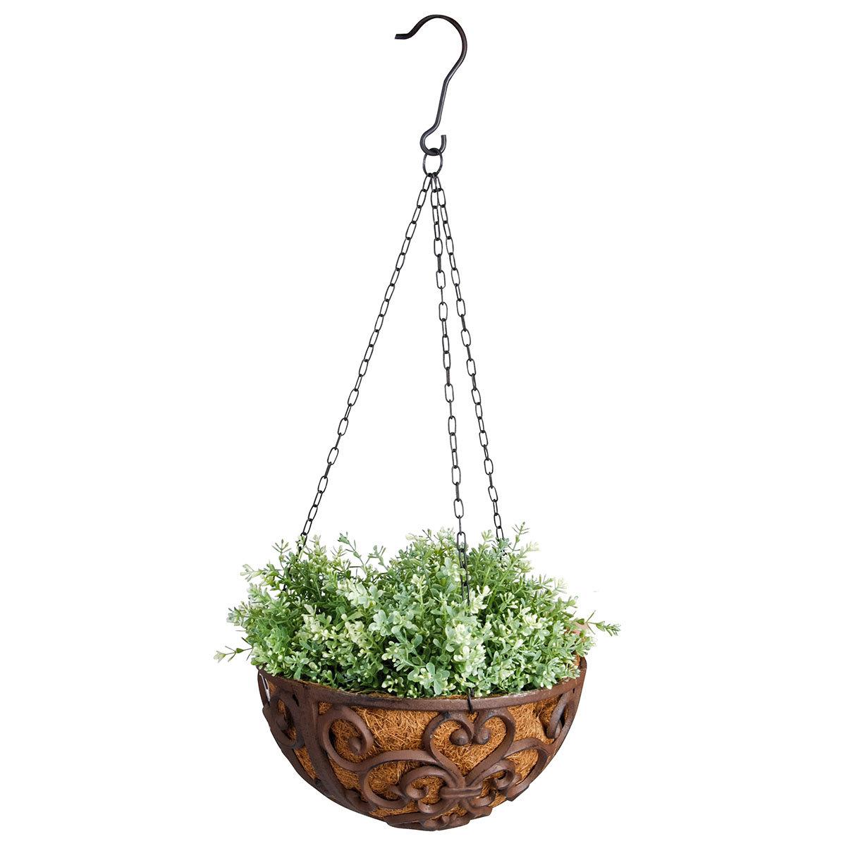 Blumenampel Nostalgie mit Kokoseinlage, Gusseisen, ca. 30 cm | #3