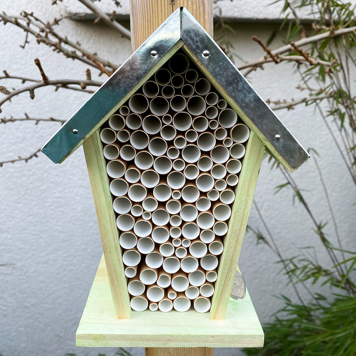 Bienenhaus mit Zinkdach, Kiefernholz, ca. 12 x 15 x 21 cm | #3