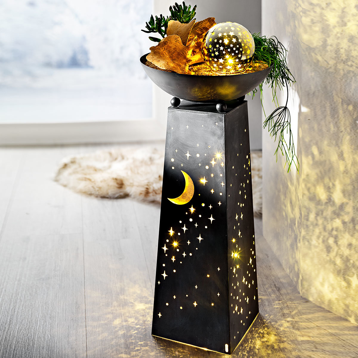 Pflanzsäule Sternenhimmel mit LED-Beleuchtung | #3