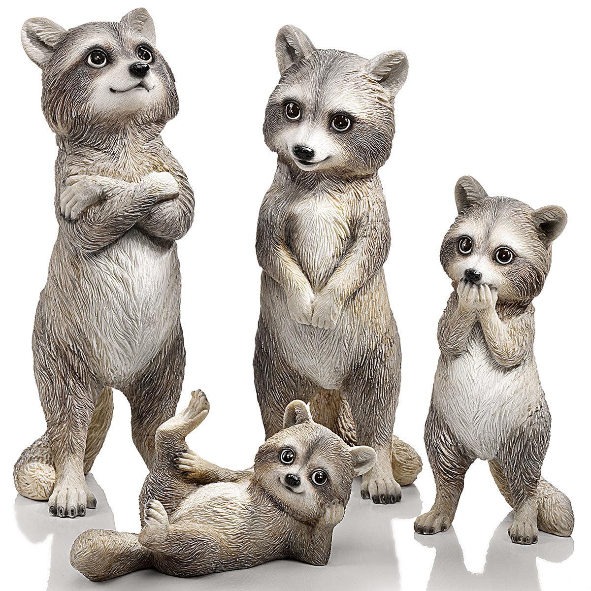 "Dekofiguren ""Familie Waschbär"" 4er-Set   #3"