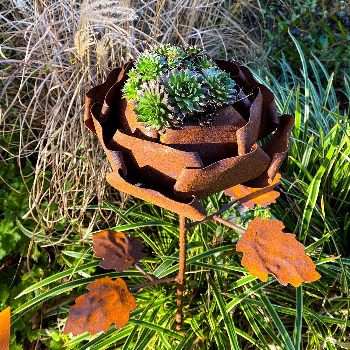 Gartenstecker Rosenzauber, Edelrost, ca. 99 cm | #3