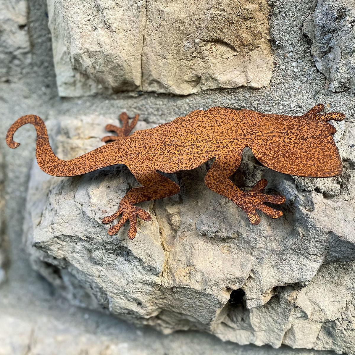 Tierfigur Salamanderpärchen, Edelrost   #3