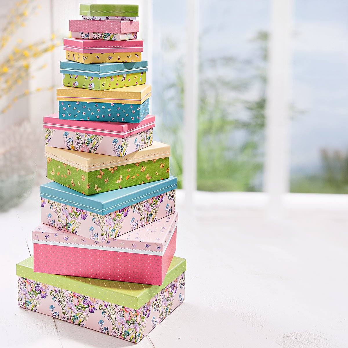 Geschenkeboxen Set, kunterbunt, 10-teilig | #3