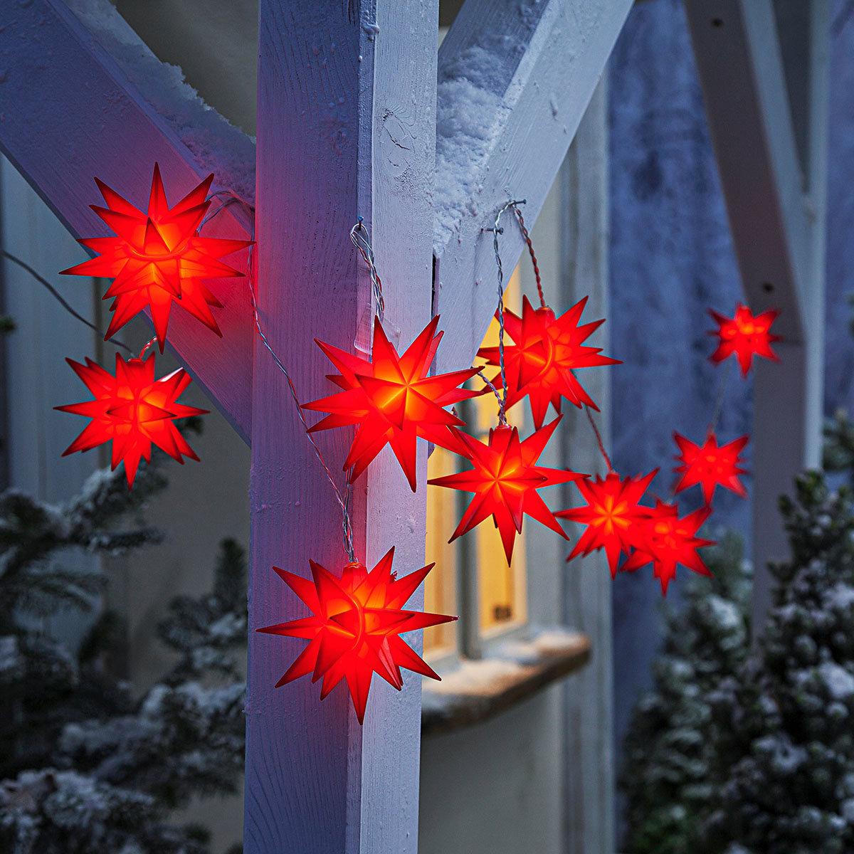LED-Lichterkette Weihnachtstern, rot | #3