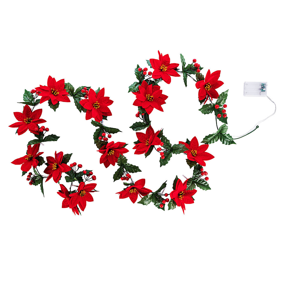"LED-Lichterkette ""Weihnachtsstern"" rot | #3"