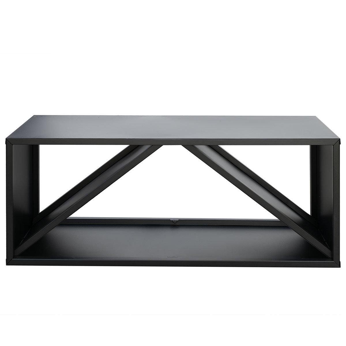 Kaminholzregal 104x34,5x40 cm, schwarz | #3