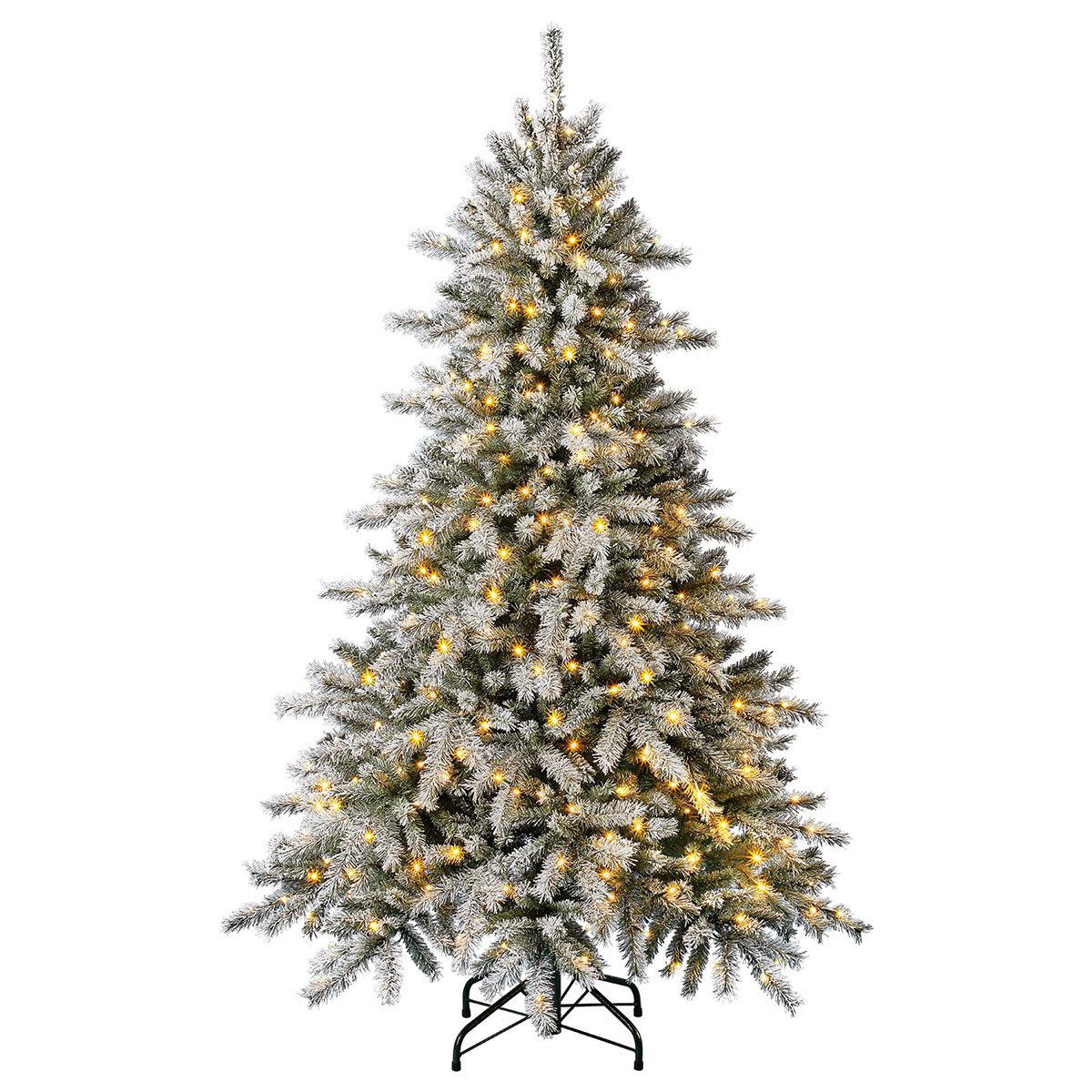 Künstlicher Weihnachtsbaum Fichte, Schneeoptik, mit Beleuchtung, 150 cm   #3