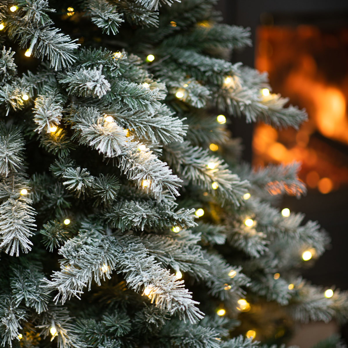 Künstlicher Weihnachtsbaum Fichte. Schneeoptik, mit LED-Beleuchtung, 180 cm | #3