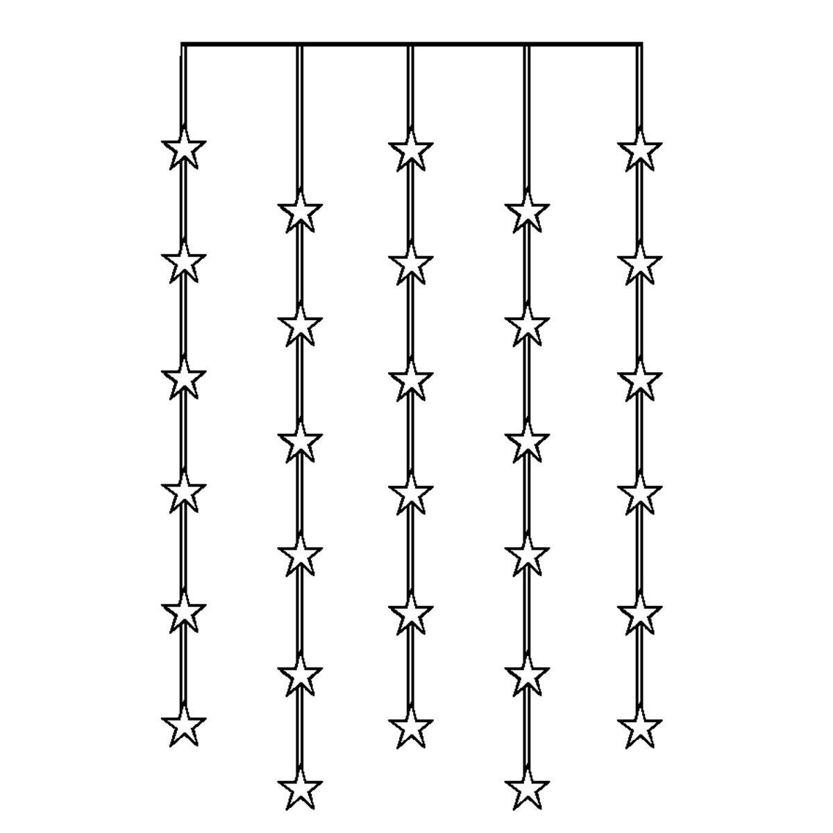 LED-Lichtervorhang Himmelssterne, 30 LEDs | #3