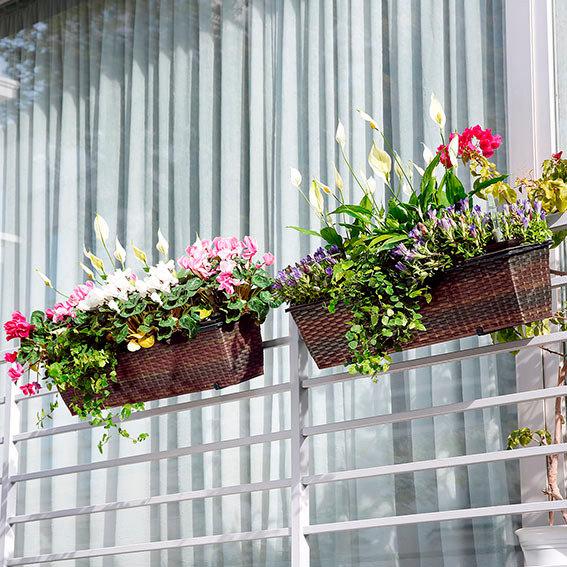 Outdoor-Rattan-Balkonkasten mit Zubehör | #3