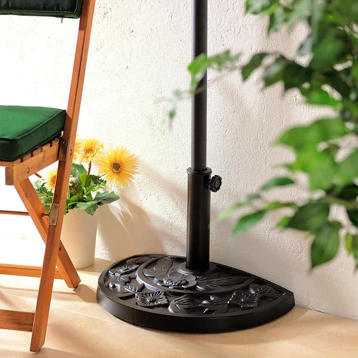 balkon sonnenschirm fu halbrund online kaufen bei g rtner p tschke. Black Bedroom Furniture Sets. Home Design Ideas
