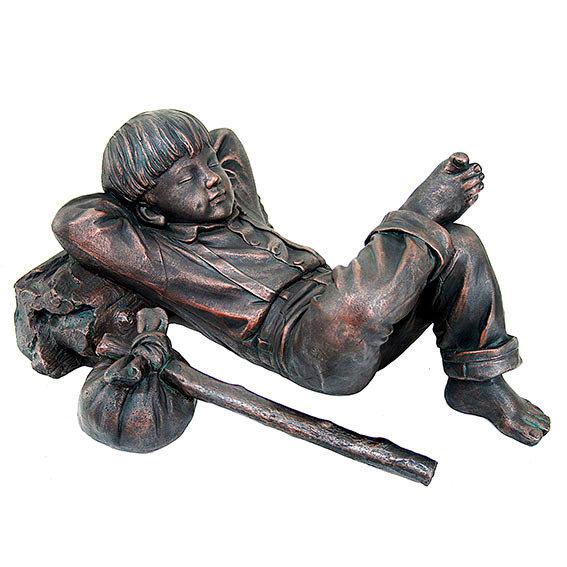 Gartenfigur Schlafender Junge Michel | #3