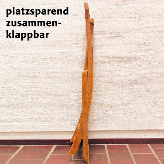 TEAK-Klappstuhl Elegance mit Armlehne | #3