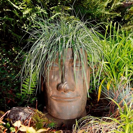Terracotta-Pflanzgefäß Osterinselkopf | #3