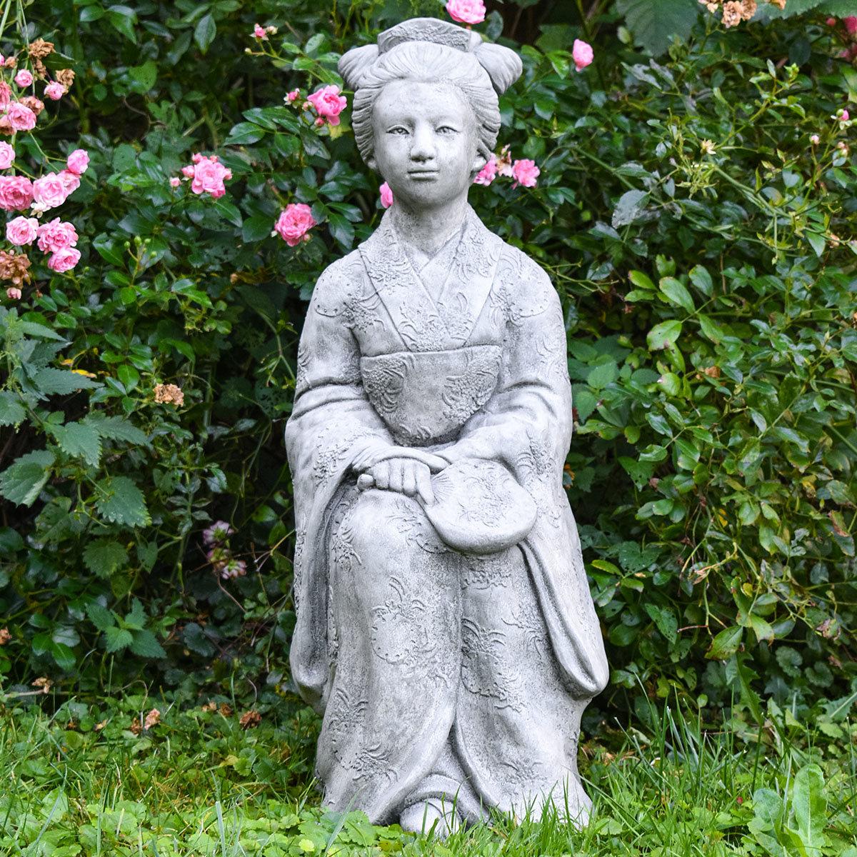 Garten-Steinfigur Geisha | #3