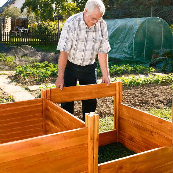 Hochbeet Extra Tief Erweiterung aus Akazienholz | #3