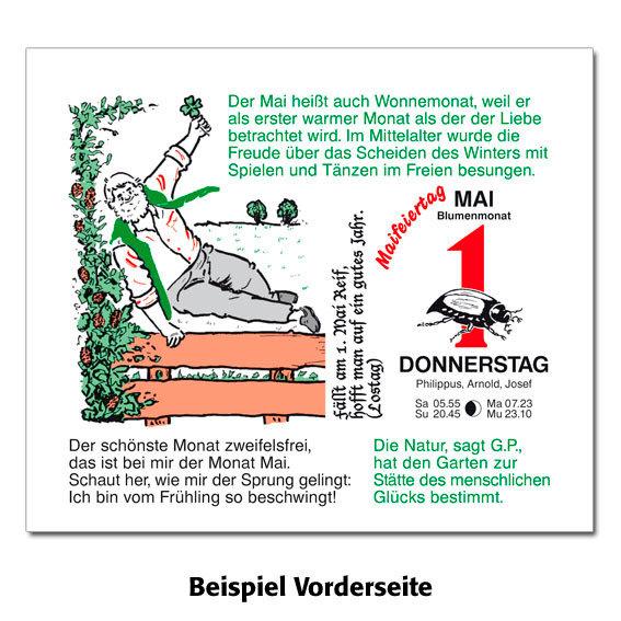Gärtner Pötschkes MAXI-Abreißkalender Der große Grüne Wink® | #3