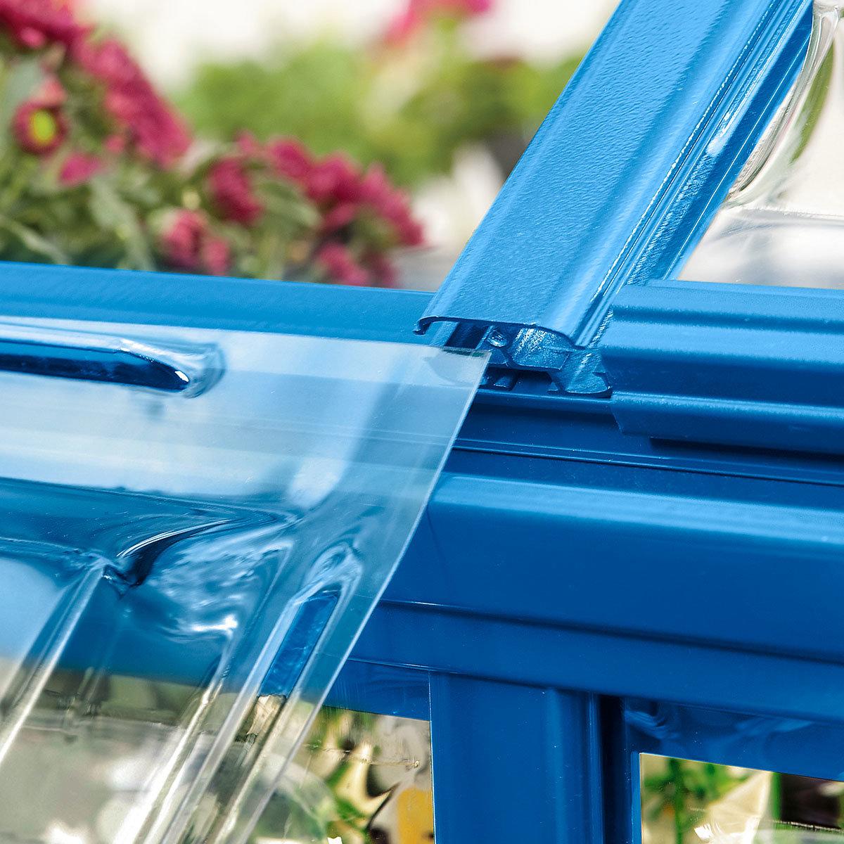 Gewächshaus Blue Line 6 x 10 inkl. Stahlfundament | #4