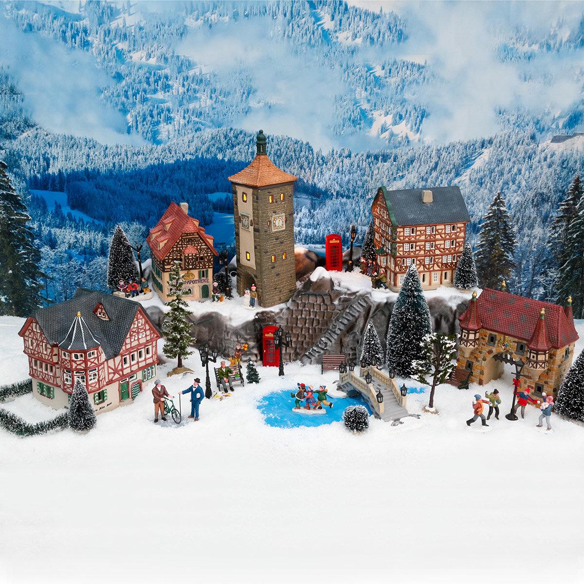 Miniatur-Weihnachtsdorf Stadttor | #4