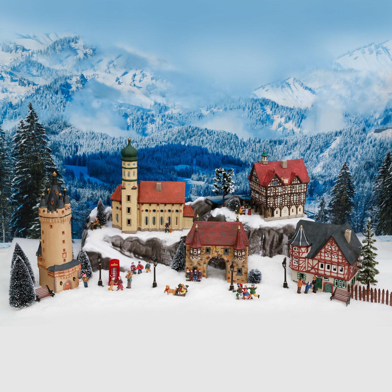 Miniatur-Weihnachtsdorf-Lichthaus Altes Weinhaus in Bacharach | #4