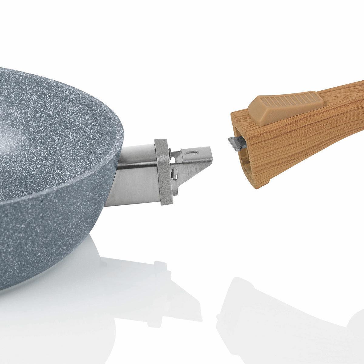 BRATmaxx Pfannenset 3-tlg, Granit & Holzoptik | #4