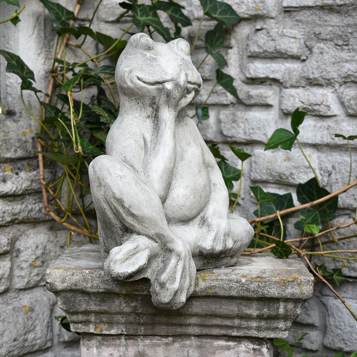 Gartenfigur Mauerhocker Frosch | #4