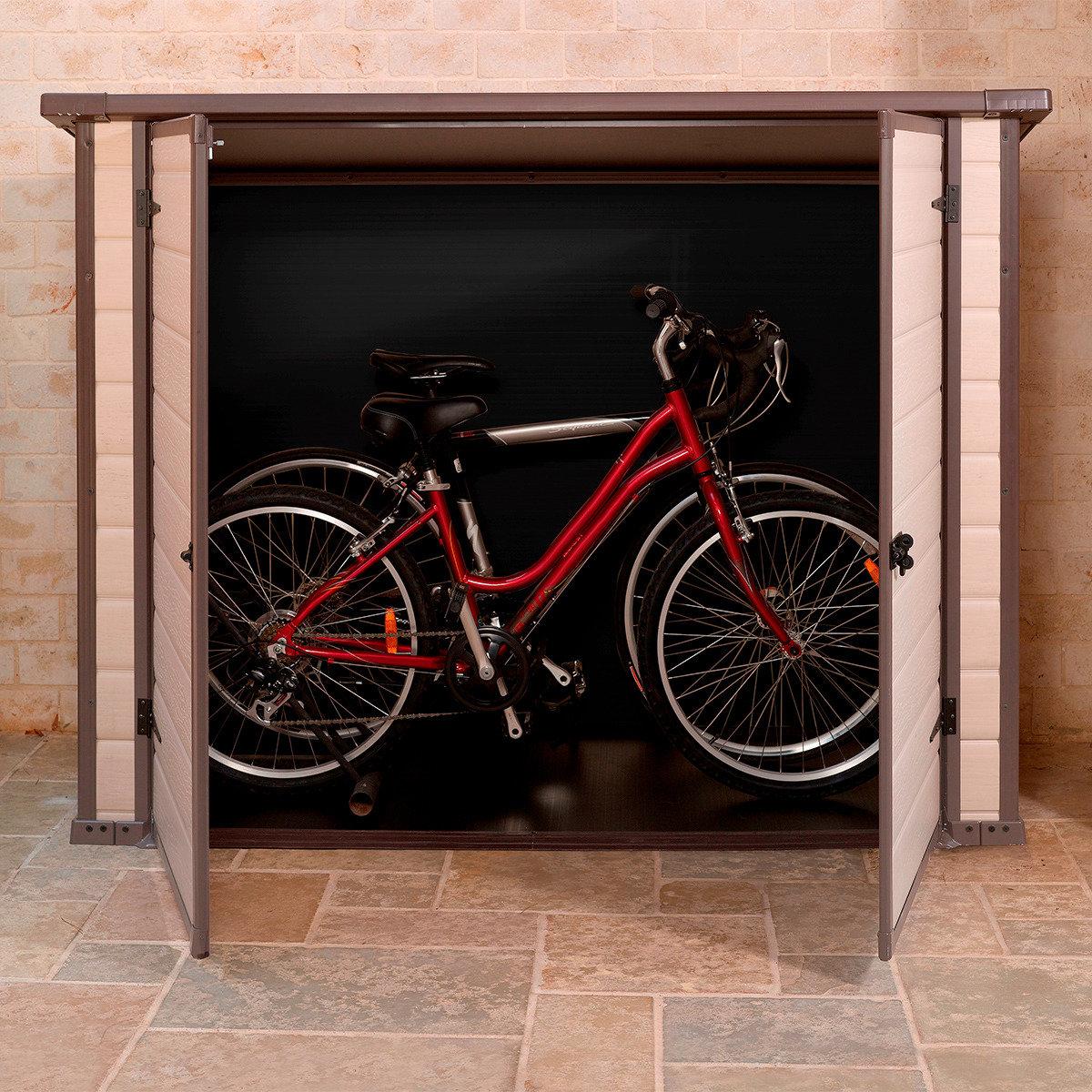 Bike & More Fahrrad- und Mülltonnenbox, beige | #4