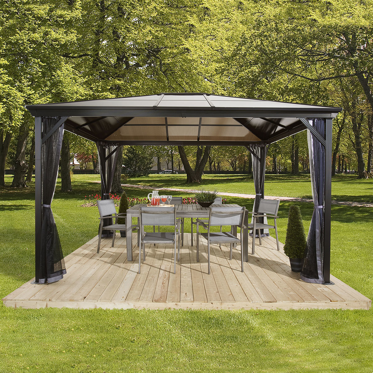 pavillon verona 10x10 online kaufen bei g rtner p tschke. Black Bedroom Furniture Sets. Home Design Ideas