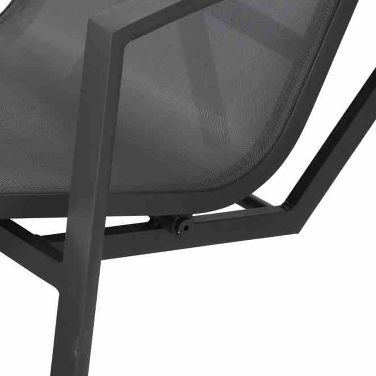 Gerona Sonnenliege, 103x68x148 cm, Aluminium, grau | #4