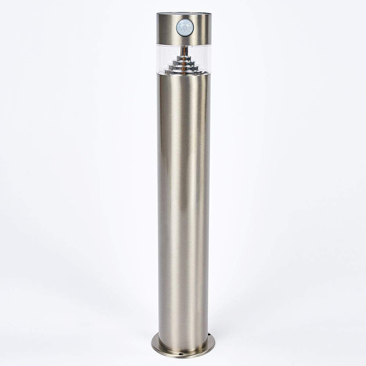 Solar-LED-Sockelleuchte Kalypso mit Bewegungsmelder, 50x7,8x7,8 cm, Edelstahl, silber | #4