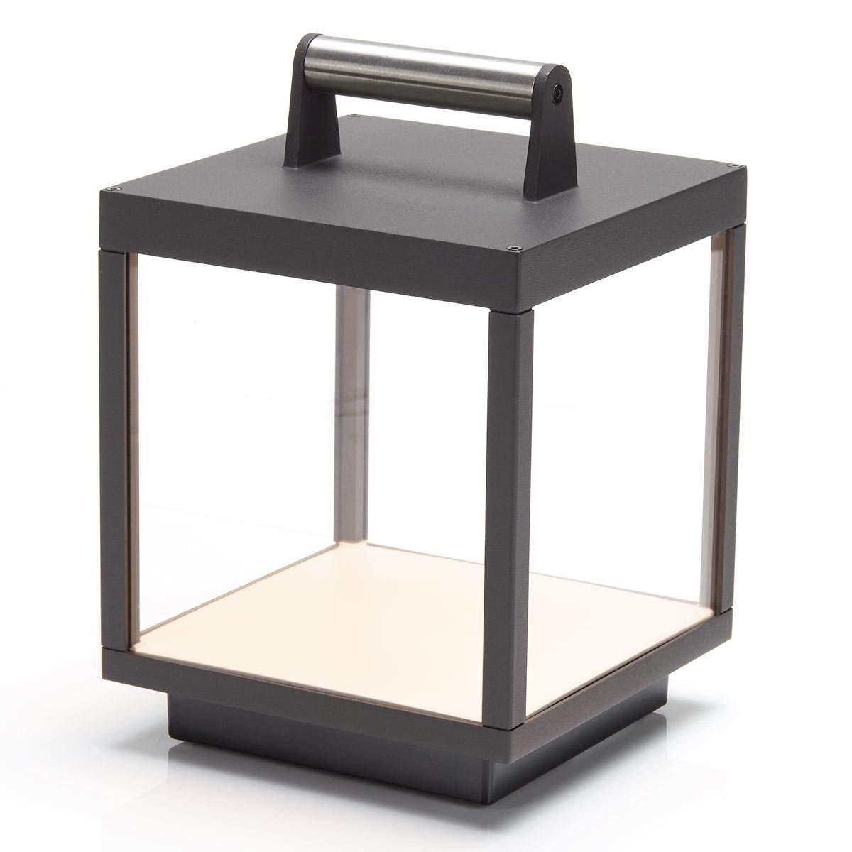 LED Tischleuchte Cube, 26,7x18x18 cm, Aluminium, grau | #4