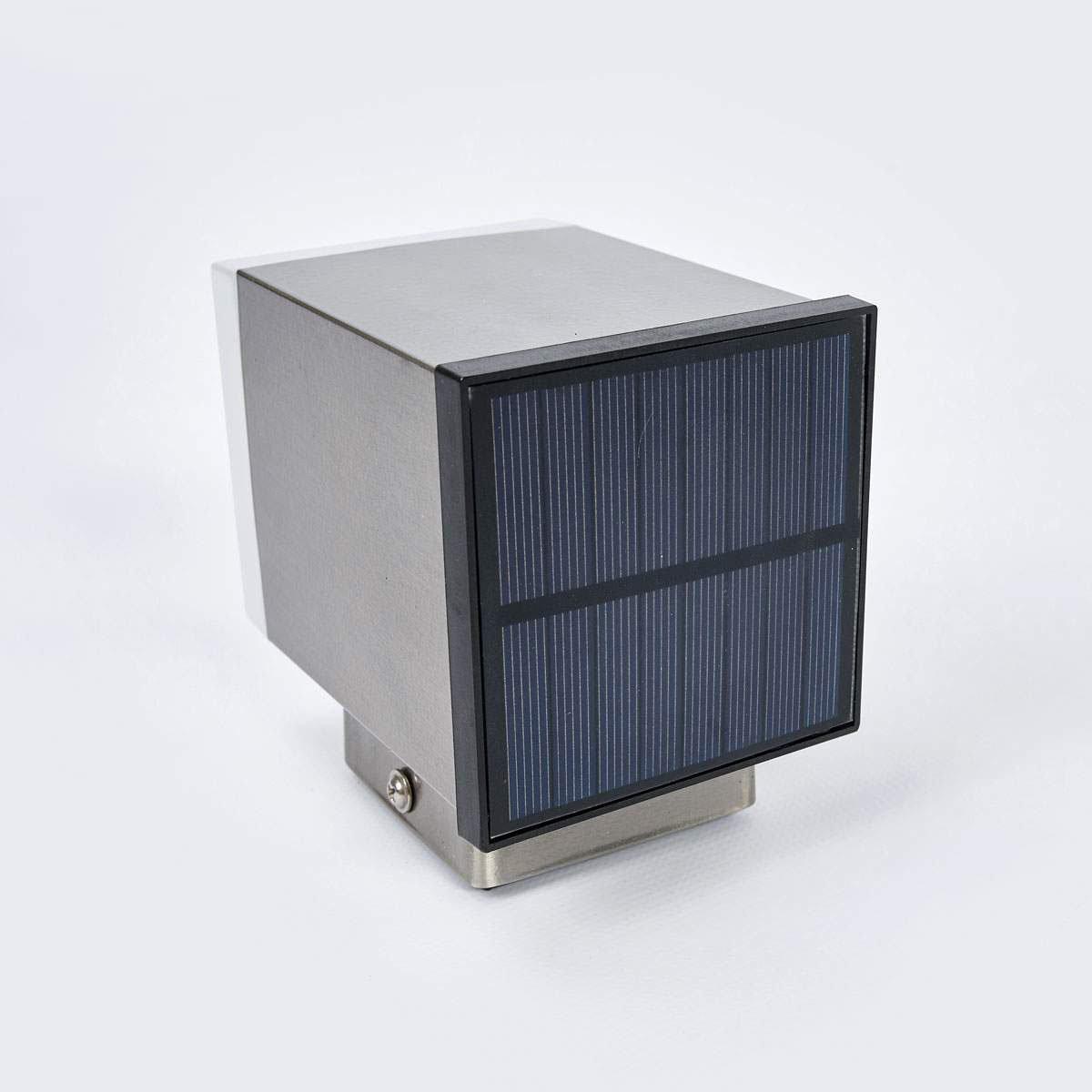 LED-Solar-Außenwandleuchte Tyson, eckig, 11,5x8,4x11,5 cm, Edelstahl, silber | #4
