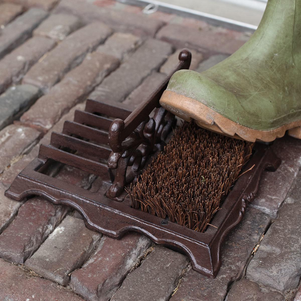 Schuhbürste Lyon, 14x27x22 cm, Gusseisen, braun   #4