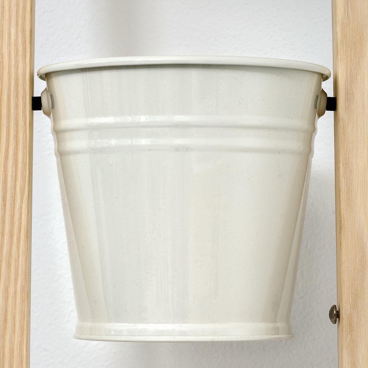 Pflanzleiter mit Topf 2-in-1 ,238x22x42 cm, Eschenholz, weiß | #4