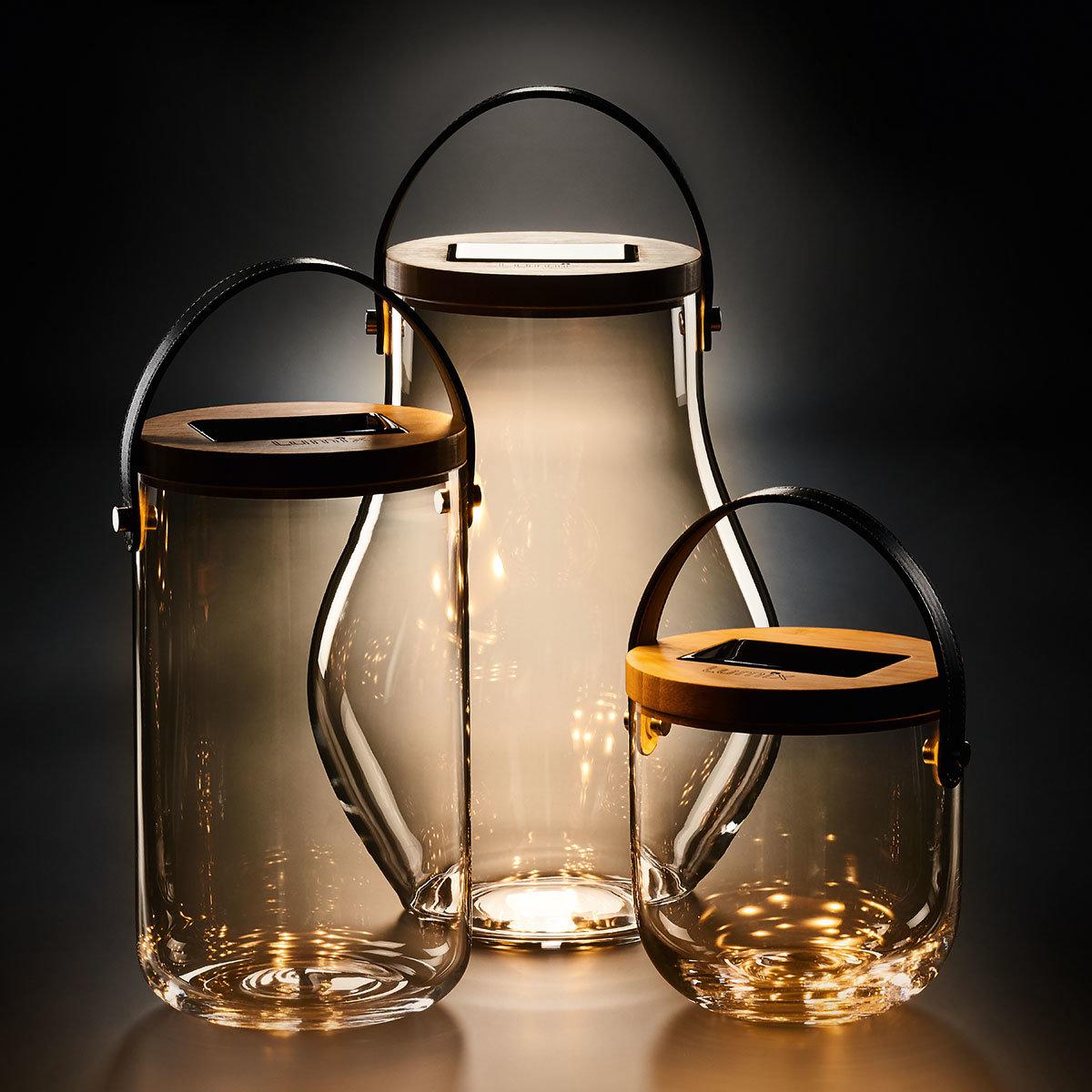 Deko Glas Bold, 31 cm, Glas, Bambus, klar | #4