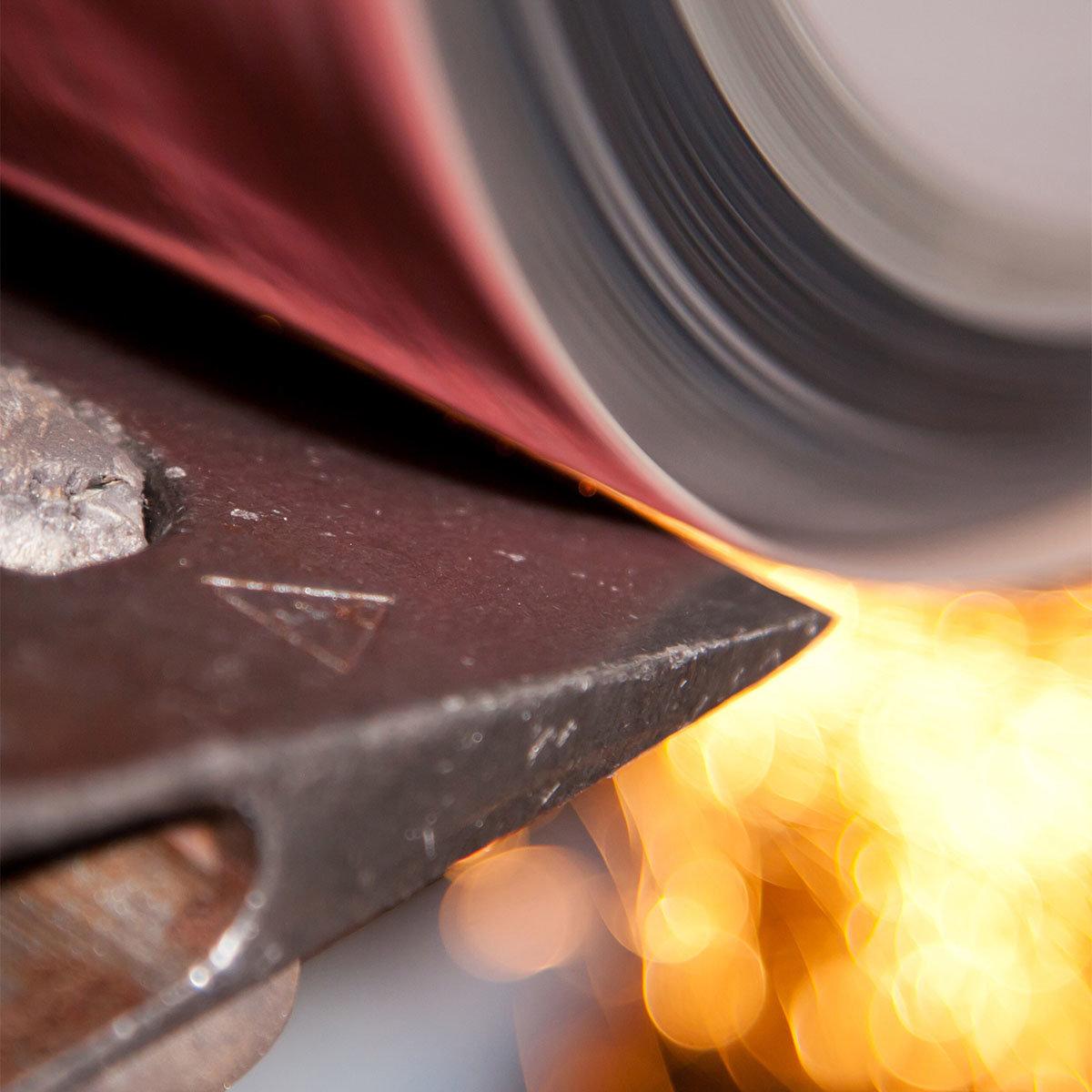 Holzspalthammer 3,2 kg, Lederstiel- und Lederschneidenschutz und USA-Hickorystiel | #4