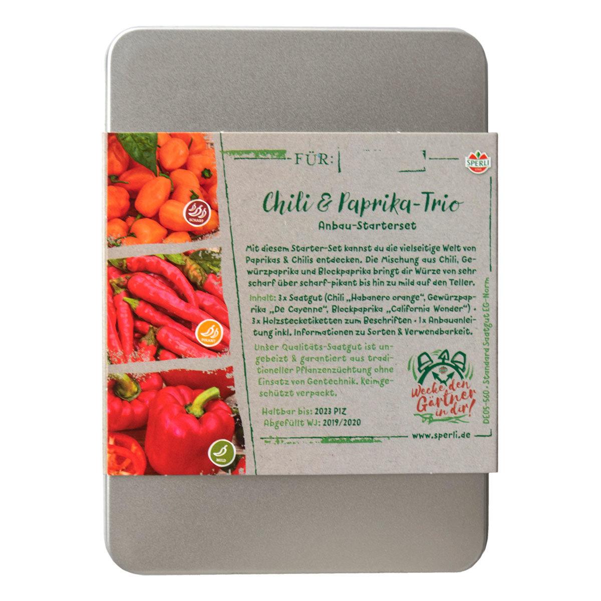 Gemüse Anzuchtset mit 3 Stecketiketten - Chili- / Paprika-Trio | #4