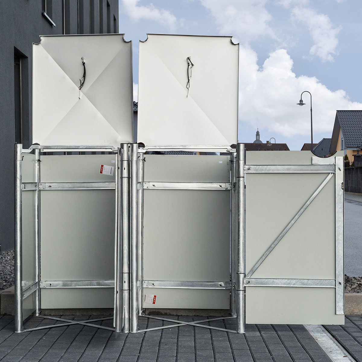 Mülltonnenbox 240l Kunststoff, 2er Box, grau   #4