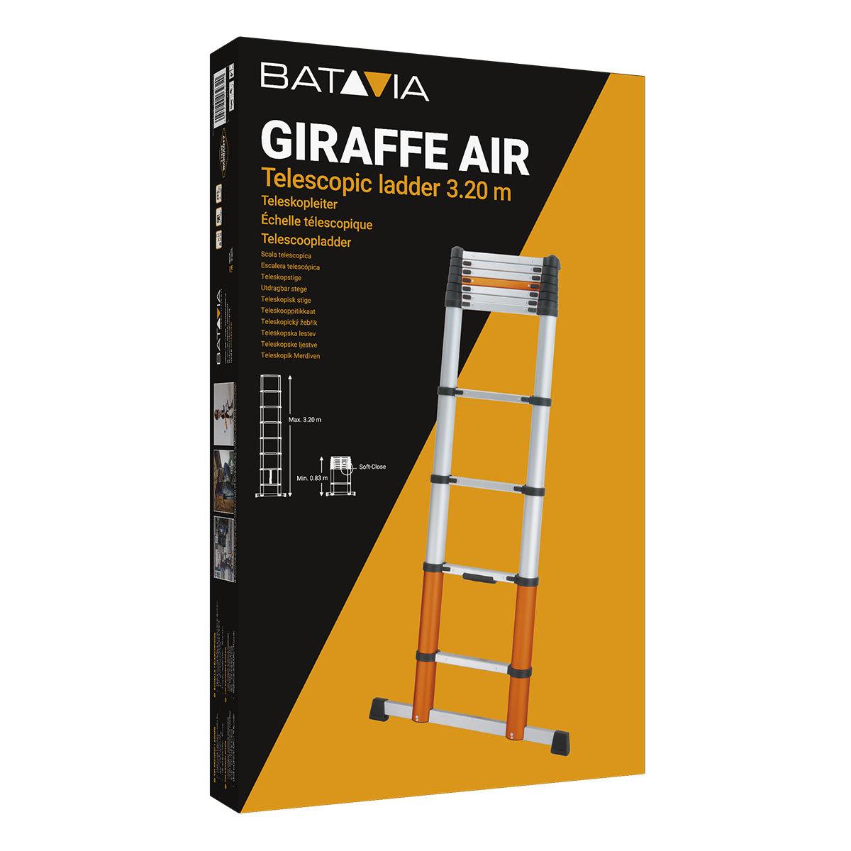 Teleskopleiter Giraffe Air 3,20 m mit Stand- & Quertraverse | #4