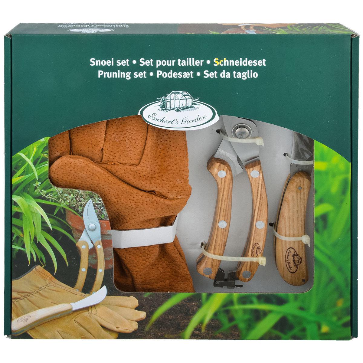 Gartenwerkzeug-Set, Schlossgärtner, Eschenholzgriff, Edelstahl, mit Lederhandschuhen | #4