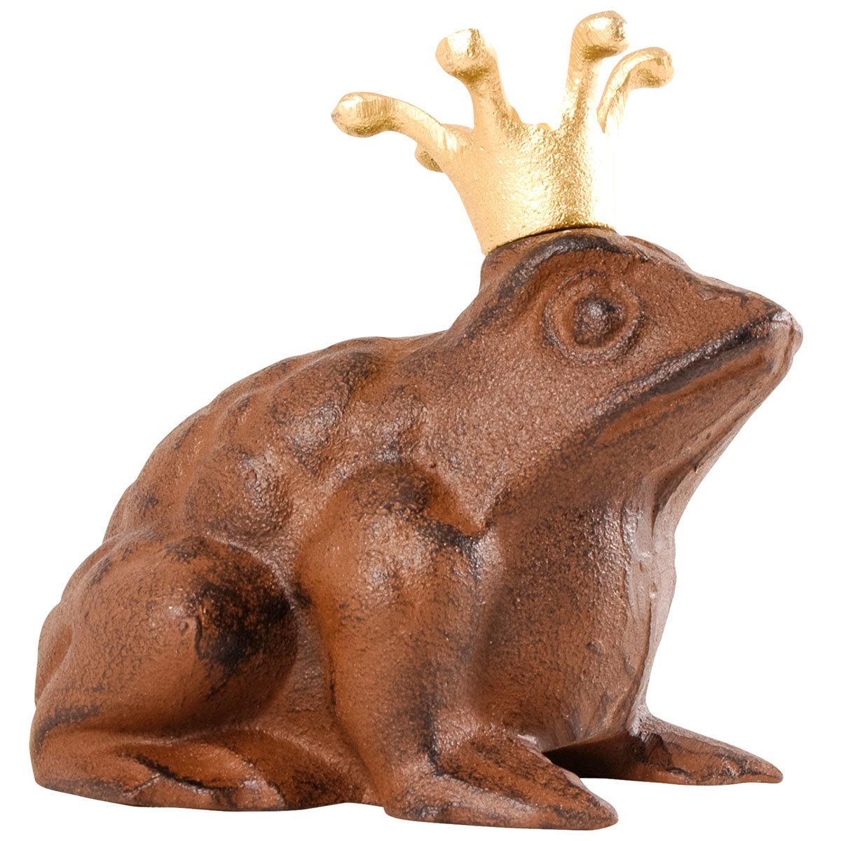 Gartenfigur Froschkönig, Gußeisen, ca. 13 cm | #4
