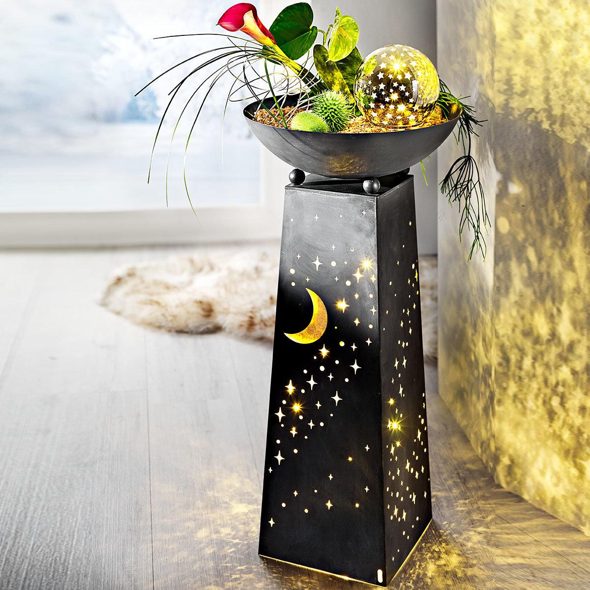 Pflanzsäule Sternenhimmel mit LED-Beleuchtung | #4