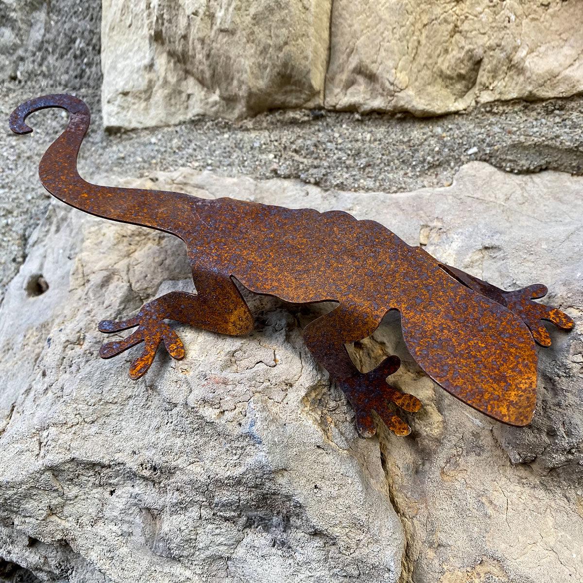 Tierfigur Salamanderpärchen, Edelrost   #4