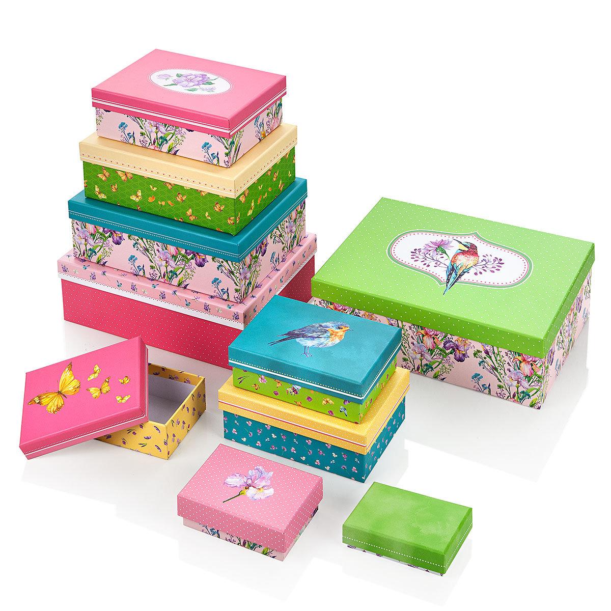 Geschenkeboxen Set, kunterbunt, 10-teilig | #4
