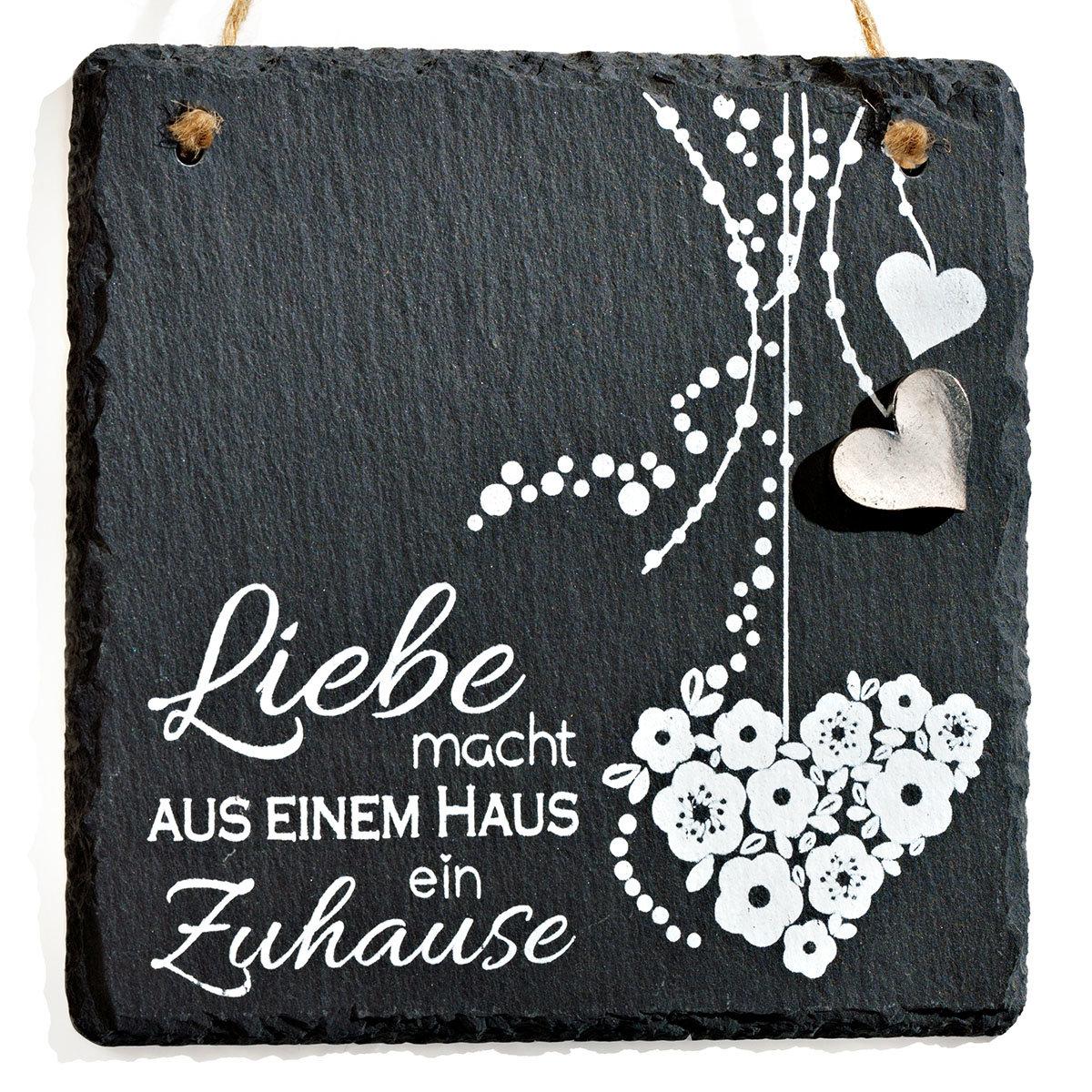 Naturschiefer Tafel Liebe, ca. 15 x 15 cm | #4